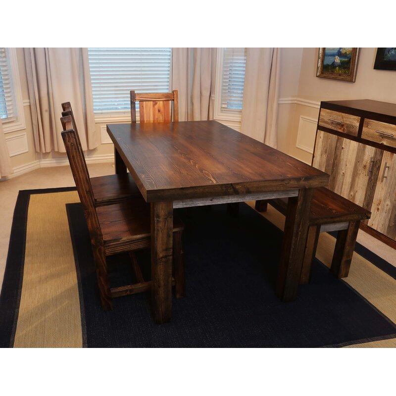 Union Rustic Gaye Solid Wood Dining Table Wayfair