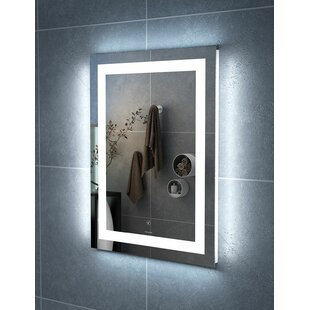 Best Review Colliton LED Bathroom/Vanity Mirror By Ebern Designs