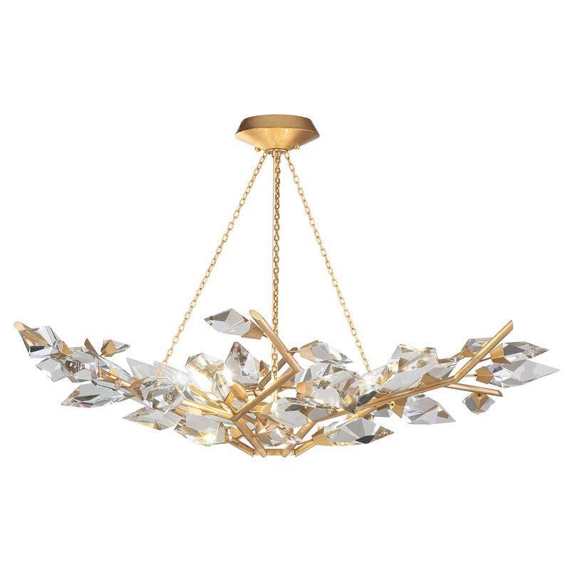 Fine Art Lamps Foret 6 Light Unique Geometric Chandelier With Rope Accents Wayfair