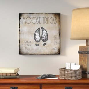 U0027Moose Lodge 2   Moose Tracks 2u0027 Textual Art On Wrapped Canvas