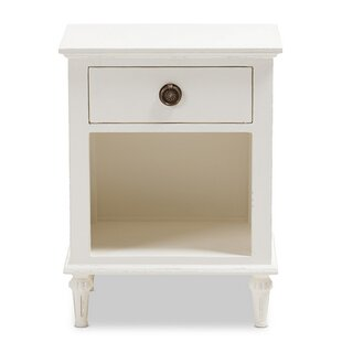 Larosa French 1 Drawer Nightstand by One Allium Way