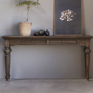 "Ambash 55"" Solid Wood Console Table by Loon Peak SKU:CD916317 Details"