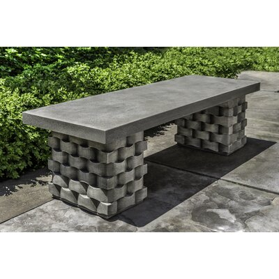 Enjoyable August Grove Anaya Stone Garden Bench Color Brown Stone Inzonedesignstudio Interior Chair Design Inzonedesignstudiocom