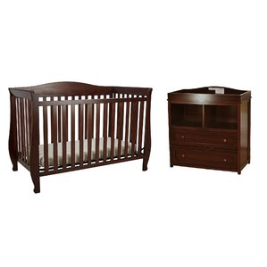 Kitt 4 In 1 Convertible 2 Piece Crib Set (Set Of 2)