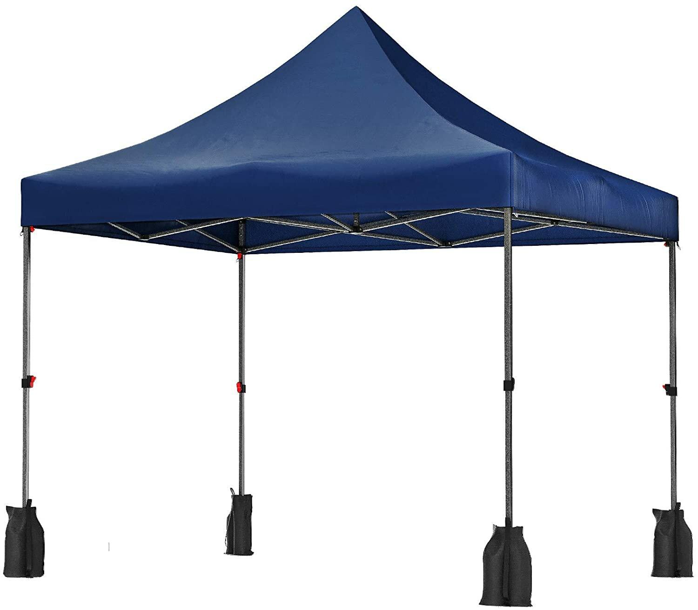 Songmics Tent 10 Ft W X 10 Ft D Metal Pop Up Canopy Wayfair