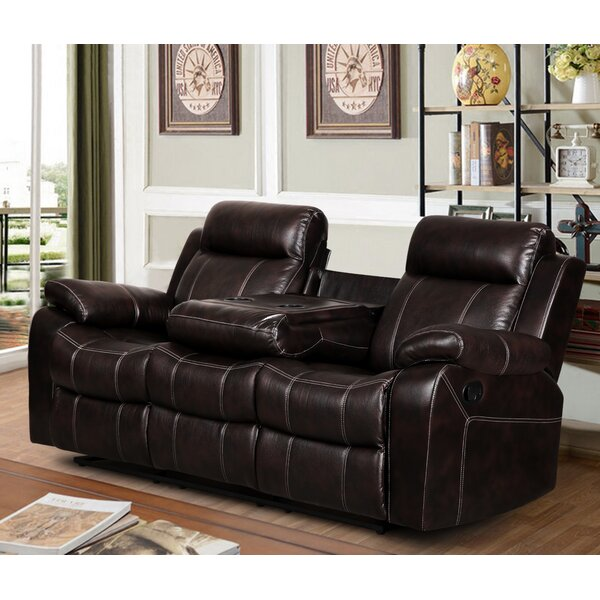 living in style gabrielle reclining sofa reviews wayfair