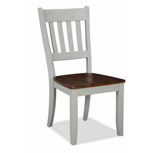 Gracie Oaks Stanton Slat Back Solid Wood Dining Chair (Set of 2)