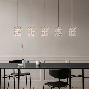 Cross 5 -Light LED Cluster Pendant by Mercer41