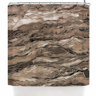Ebi Emporium Marble Idea! - Rich Jewel Tone Shower Curtain by East Urban Home