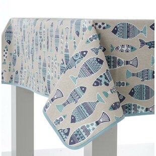 Fishes Tank Oilcloth Tablecloth