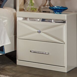 Willa Arlo Interiors Wylie 2 Drawer Night Stand