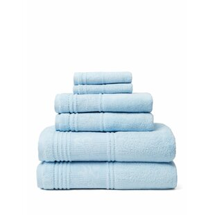 Tamekia 6 Piece Turkish Cotton Towel Set