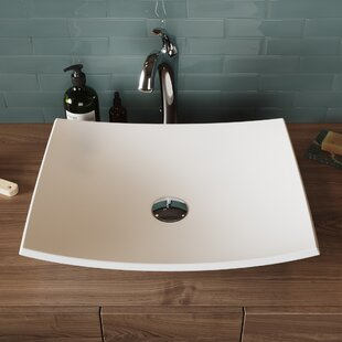 Affordable Price Natura & Arlo Ceramic Rectangular Vessel Bathroom Sink with Faucet By Kraus