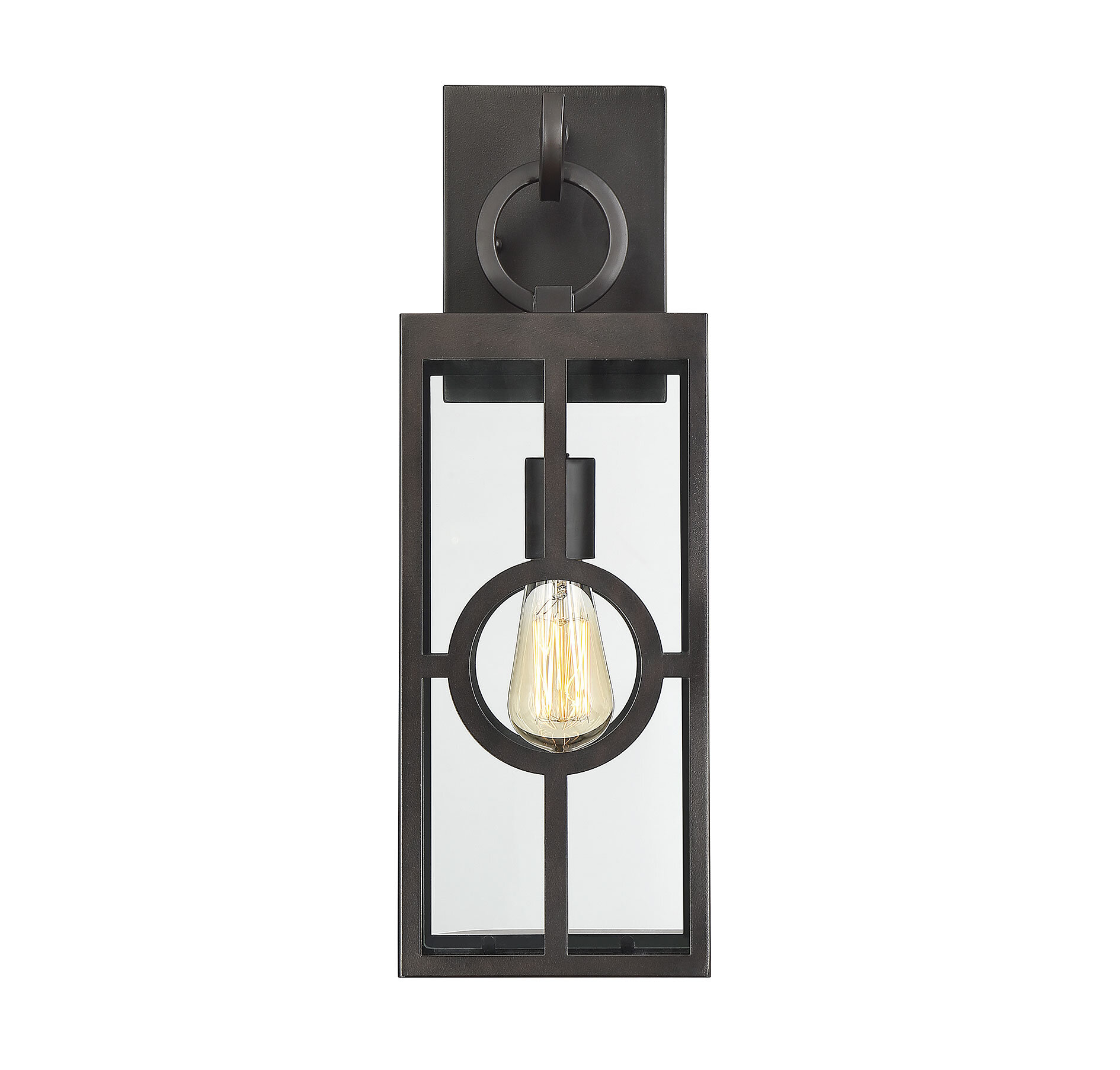Gracie Oaks Wycoff English Bronze 1 Bulb Outdoor Wall Lantern Reviews Wayfair