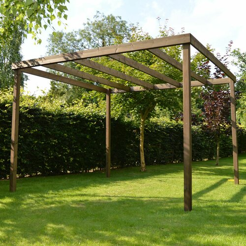 Randi Manufactured Wood Pergola Sol 72 Outdoor Finish: Rusti