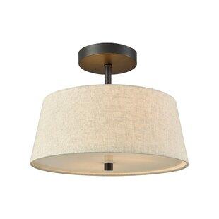 House of Hampton Brunson 2-Light LED Semi Flush Mount