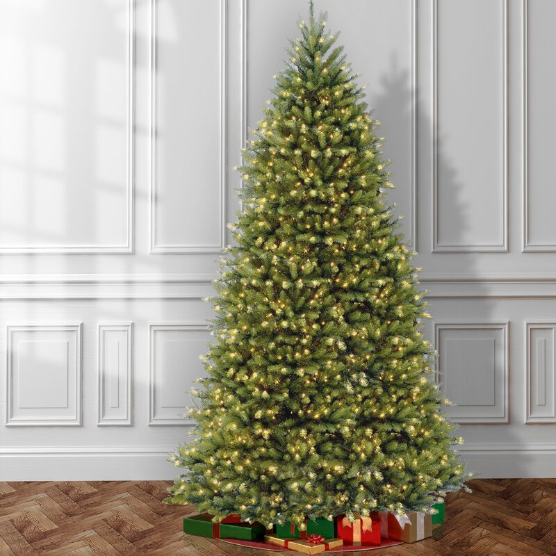 Green Fir Artificial Christmas Tree with Colored & Clear Lights