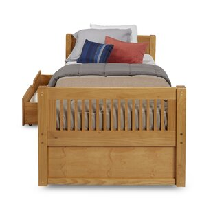 Oakwood Twin Platform Bed with Drawers