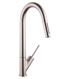 Axor Starck Pull Down Single Handle Kitchen Faucet