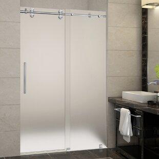 Where buy  Langham 48 x 75 Single Sliding Frameless Shower Door ByAston