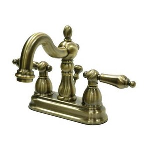 Charming Heritage Centerset Bathroom Faucet With Double Lever Handles