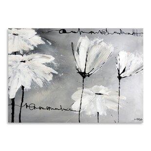 White Flower Painting Wayfair