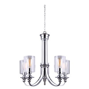 Breakwater Bay Humphries 5-Light Shaded Chandelier
