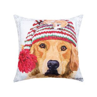 Feltman Winter Hat Golden Indoor/Outdoor Throw Pillow