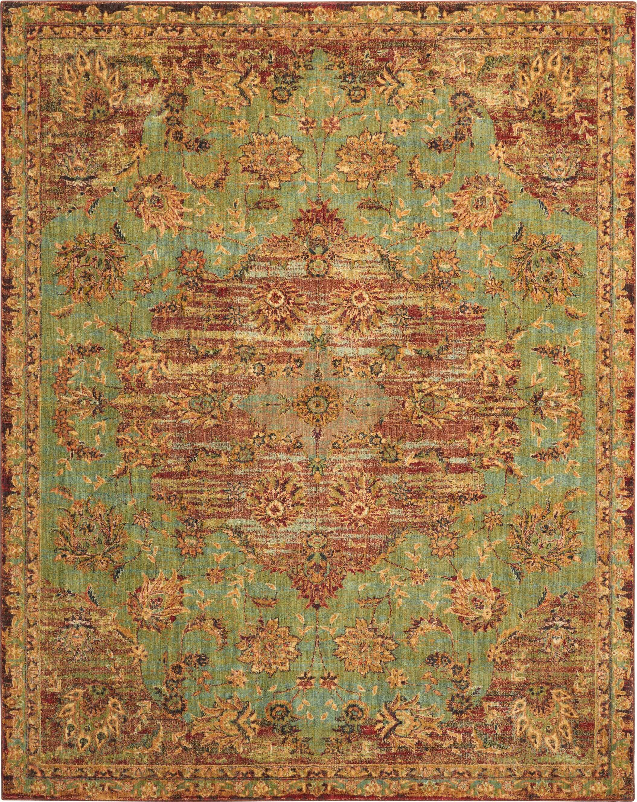Dufresne Green Red Yellow Area Rug