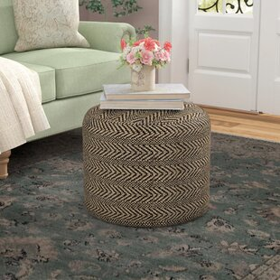 Shop For Wyndham Chevron Pouf Ottoman By Laurel Foundry Modern Farmhouse