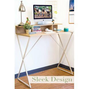 Dreiling Standing Desk with Storage Cubbies