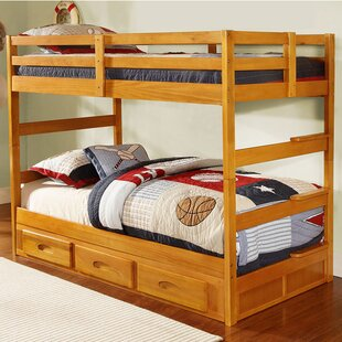 Online Reviews Hinnant Twin over Twin Bunk Bed with Storage By Zoomie Kids