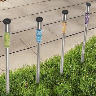 Mosaic Column 4 Light LED Pathway Light (Set of 4) (Set of 4)