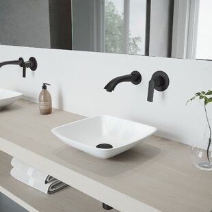 Hyacinth Stone Square Vessel Bathroom Sink with Faucet VIGO