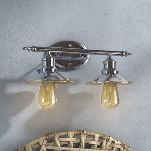 Industrial vanity lights youll love wayfair baden powell 2 light vanity light aloadofball Gallery