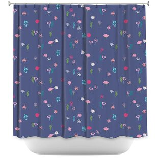 Cats Flowers Single Shower Curtain