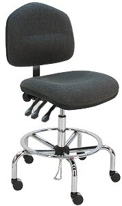 Cleanroom Lab Swivel Drafting Chair