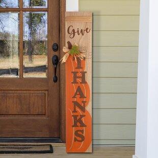 Fall Wooden Porch Signs Wayfair