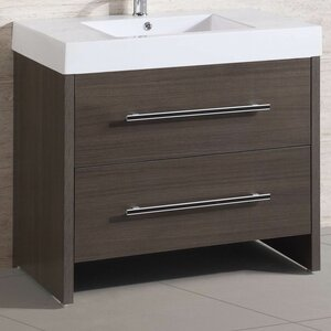 36u201d Single Modern Bathroom Vanity Set