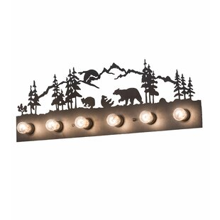 Loon Peak Michelle Bear Family 6-Light Vanity Light