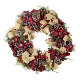 58cm Pine Cone Christmas Wreath Image