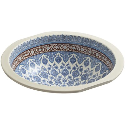Kohler Marrakesh Ceramic Circular Undermount Bathroom Sink Sinks