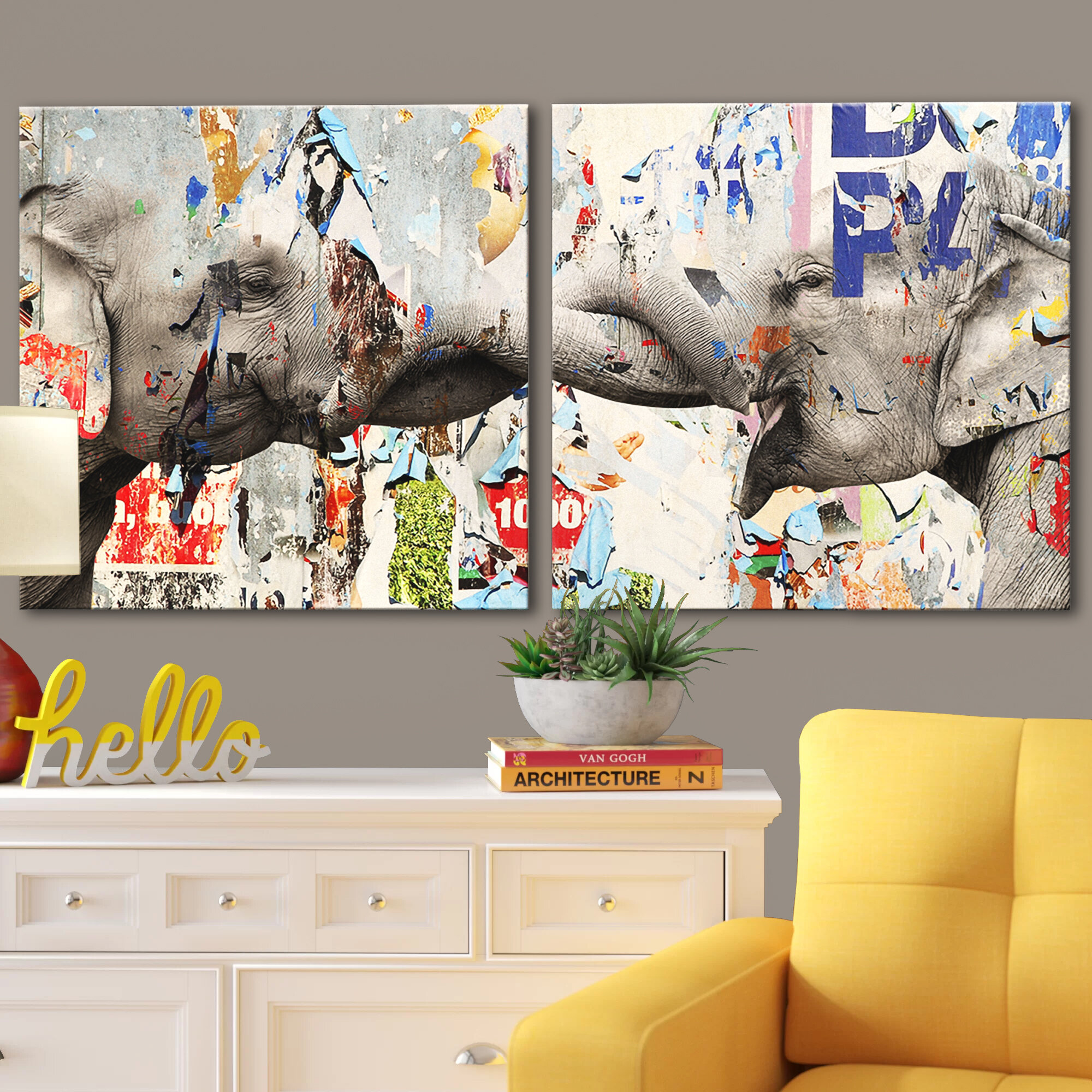 DIY Paint Graffiti Fit Acrylic Oil Painting Cotton Wall Art Home Abstract Girl