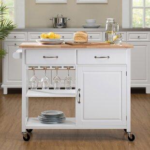 Wiley Kitchen Cart by Breakwater Bay #1