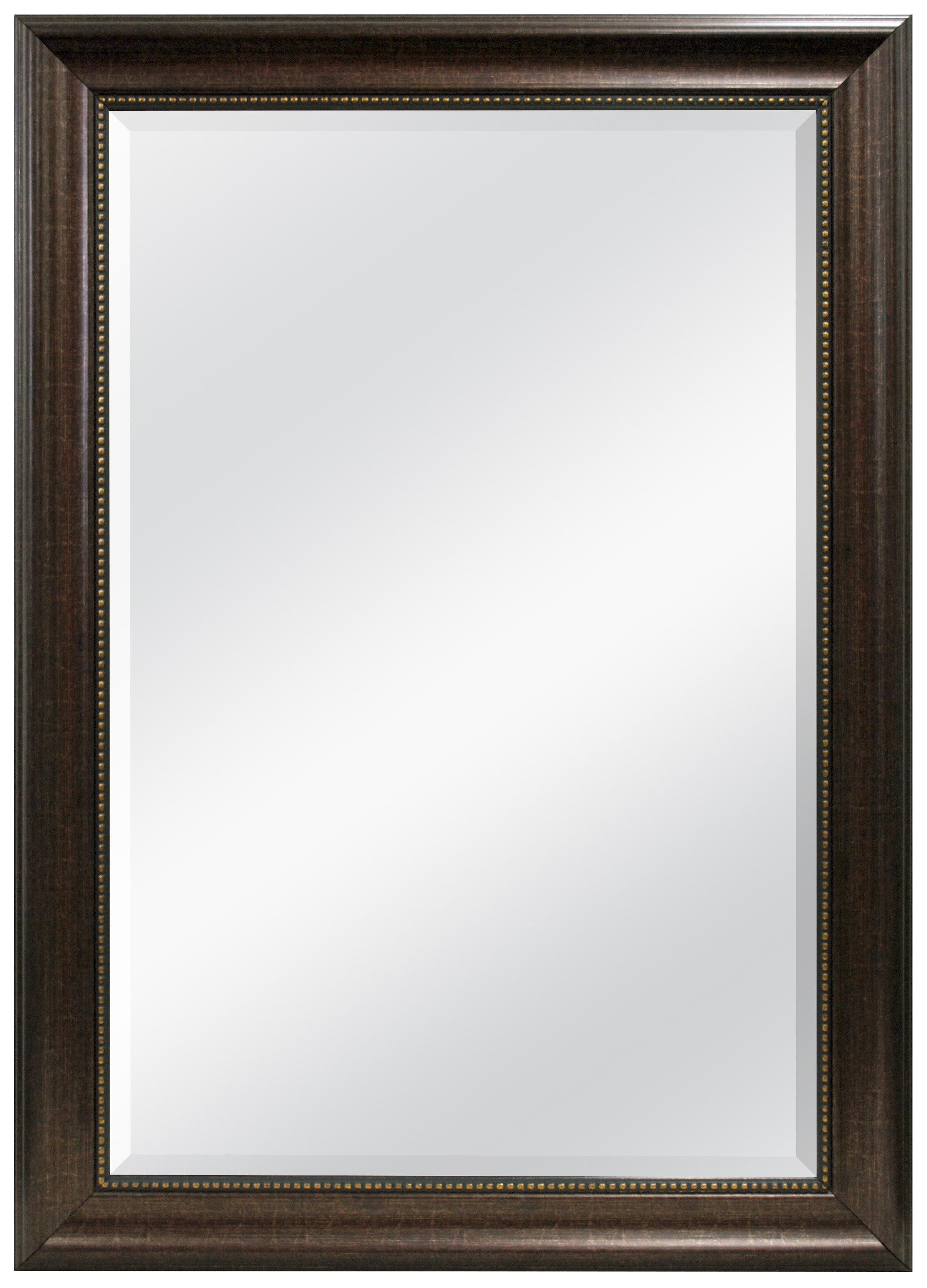 Vassallo Beaded Bronze Beveled Wall Mirror
