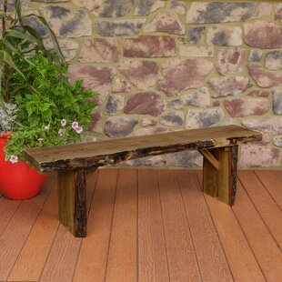 Enjoyable Bruggeman Live Edge Solid Wood Garden Bench Evergreenethics Interior Chair Design Evergreenethicsorg