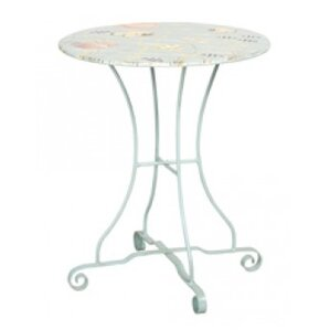 Hilliard Metal Pub Table by Rosecliff Heights