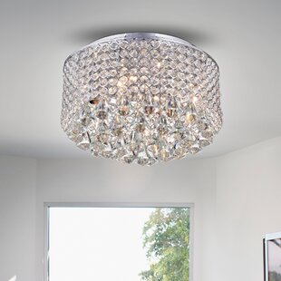 Big Save Kinney Crystal Circle 4-Light Flush Mount By Everly Quinn