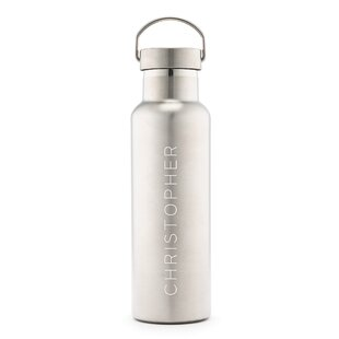 Sayler Contemporary Vertical Line Print Personalized 25 oz. Stainless Steel Water Bottle