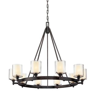 Bevill 10-Light Wagon Wheel Chandelier